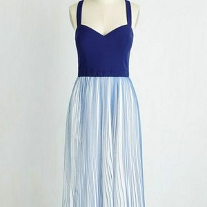 Modcloth Royal Blues Retro Dress